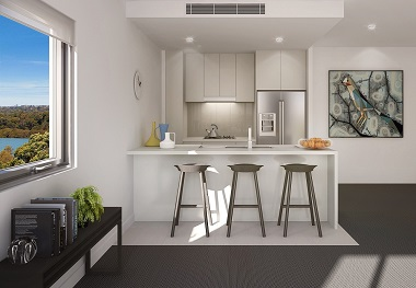Evoke apartments Kitchen